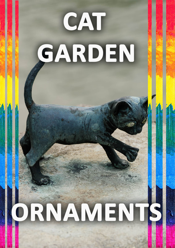Cat garden ornaments