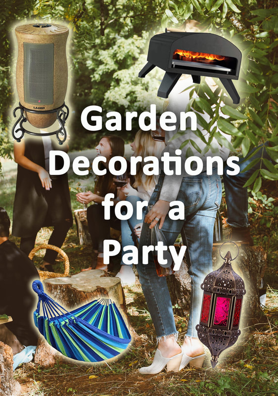 Garden decorations for a party