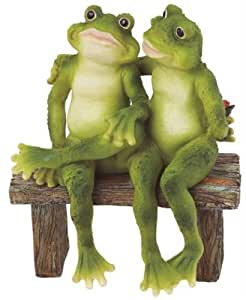 Hugging frog garden ornaments