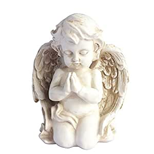 Praying child angel stone statue
