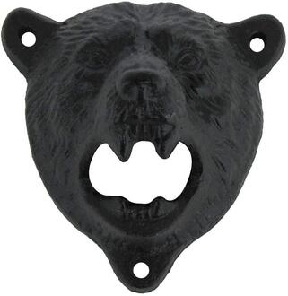 Wall mountable brizzly bear bottle opener
