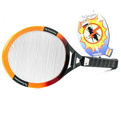 Gardeners bug zapper racket