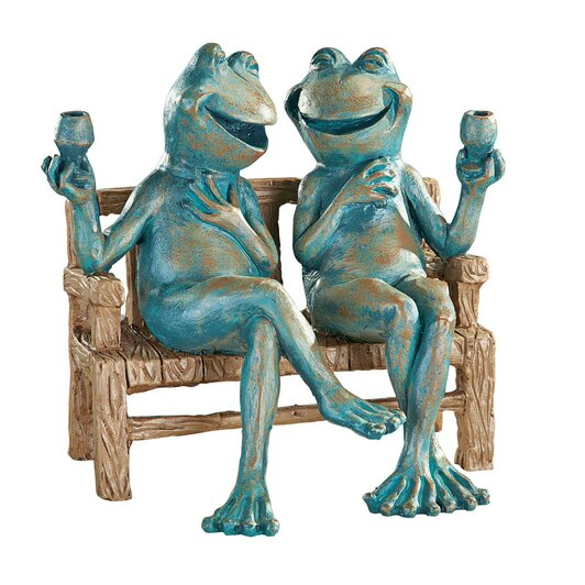 Happy hour garden frogs ornament