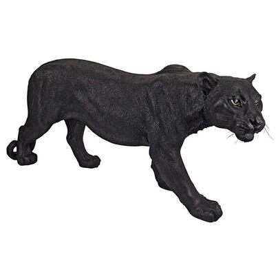 black panther garden ornament