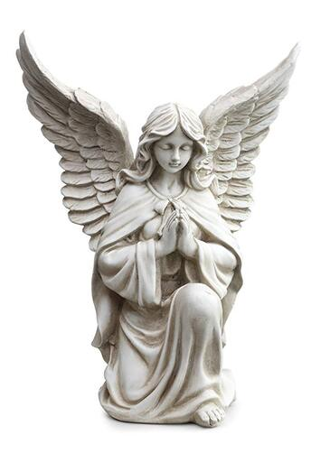Praying garden angel ornament