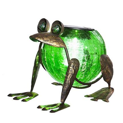 Quirky garden frog ornament