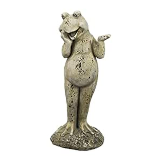 Happy frog garden ornament