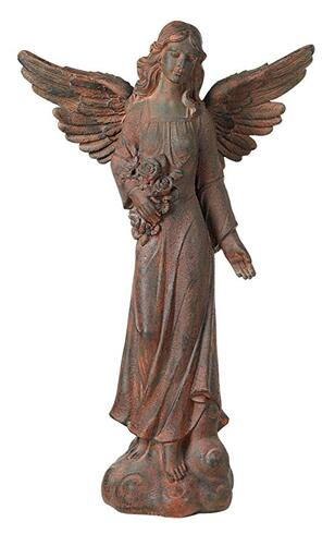 English angel garden statue