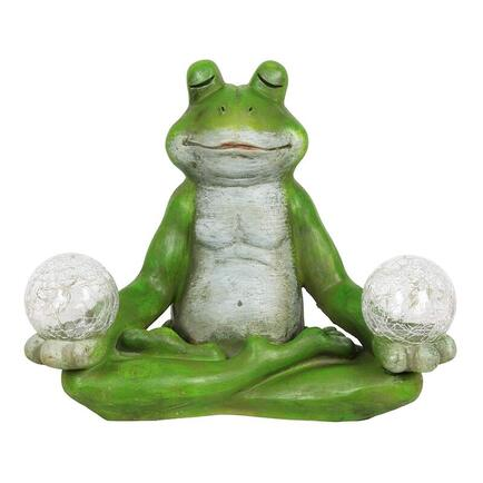 solar yoga frog ornament