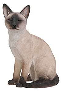 Siamese cat garden ornament